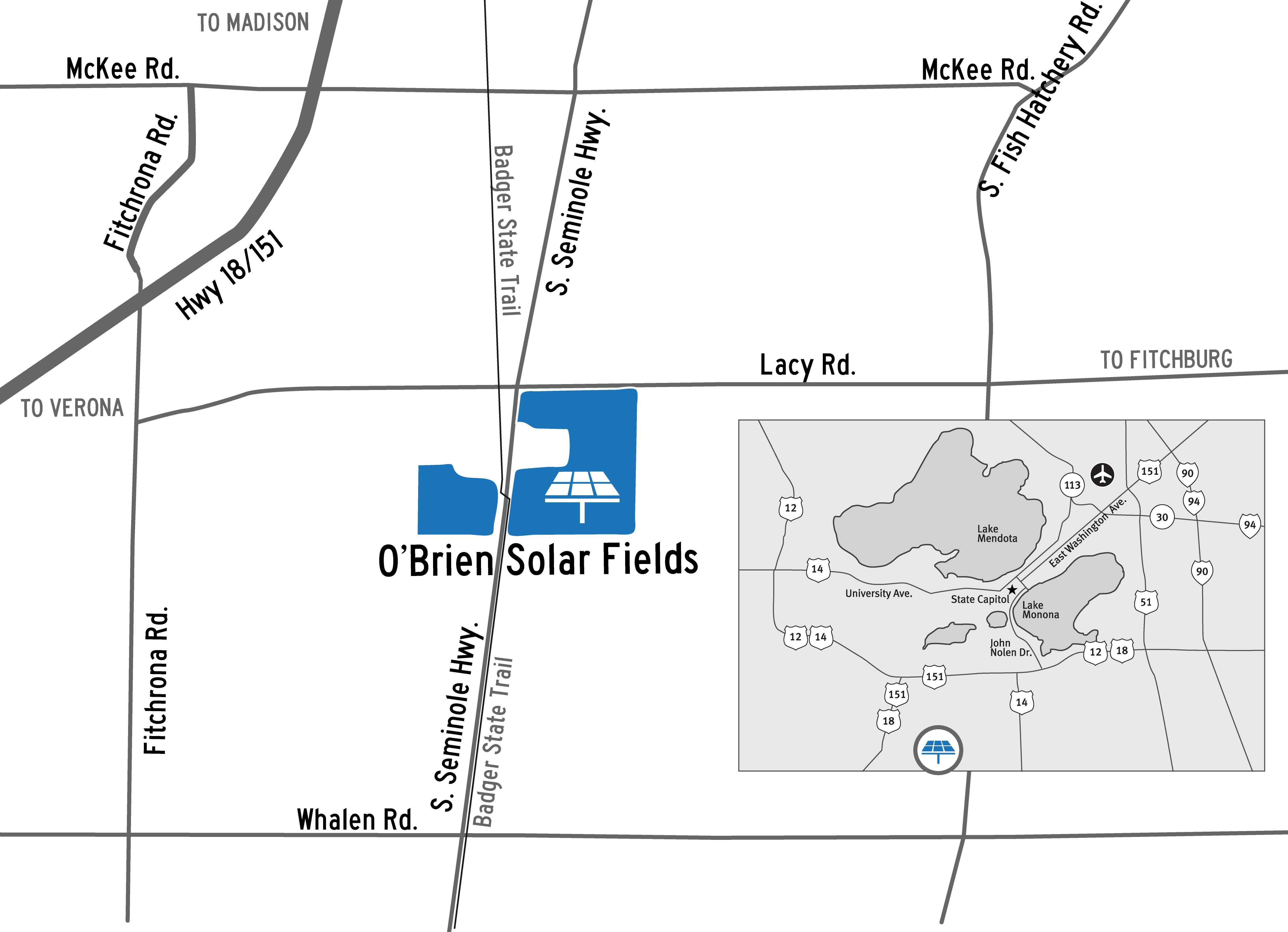 O'Brien Solar Fields map