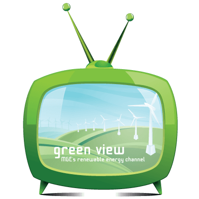 Illustration of a green TV