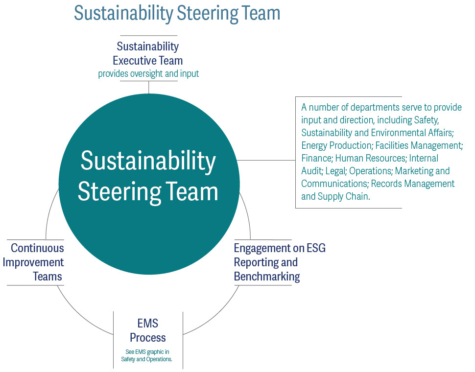 Sustainability steering team