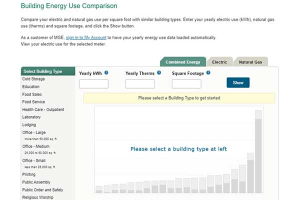 Online benchmarking tool compares building energy use