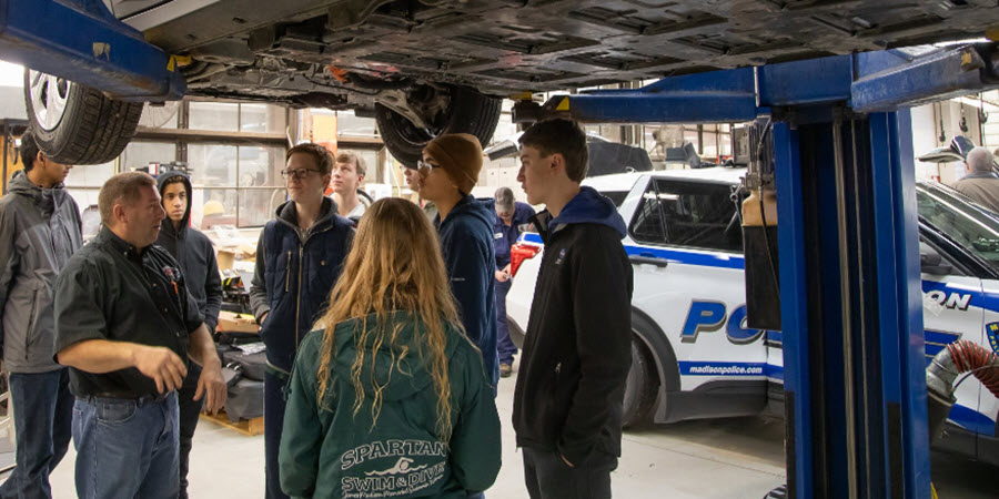 High School Students Take Electric Vehicle (EV) Field Trip