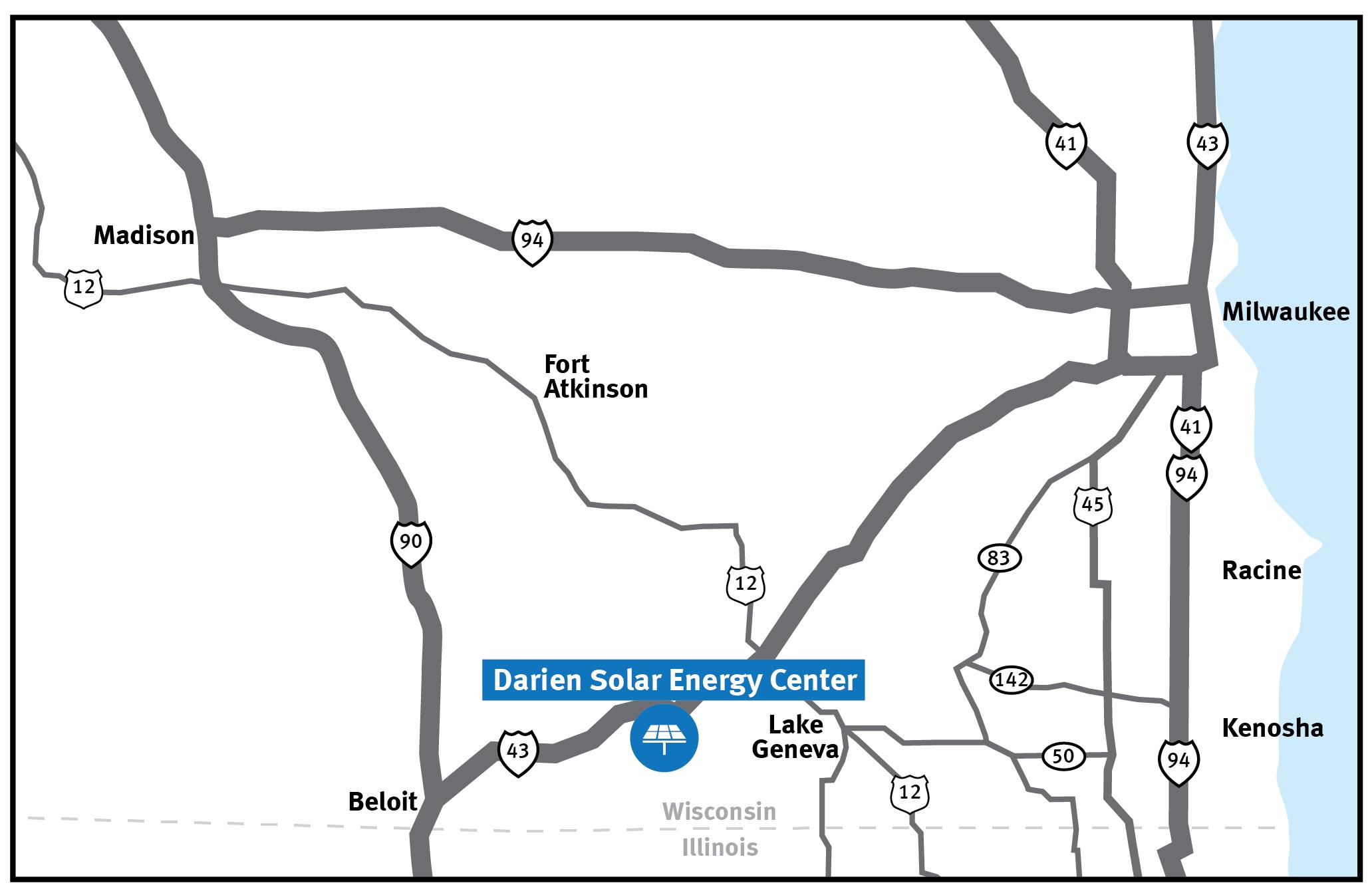 Map of Darien Solar Energy Center