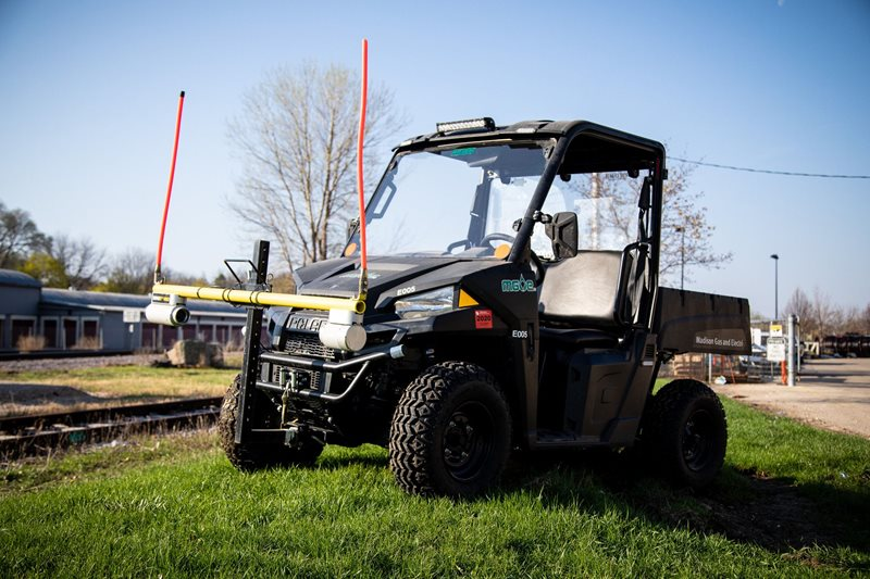 MGE recently purchased an all-electric off-road vehicle for use by the gas department.